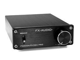 【送料無料】FX-AUDIO- FX202A/FX-36A PRO『ブラック』TDA7492PEデジタルアンプIC搭載 ステレオパワーアンプ
