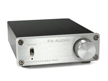 FX-AUDIO-FX202A/FX-36APRO『シルバー』TDA7492PEデジタルアンプIC搭載ステレオパワーアンプ