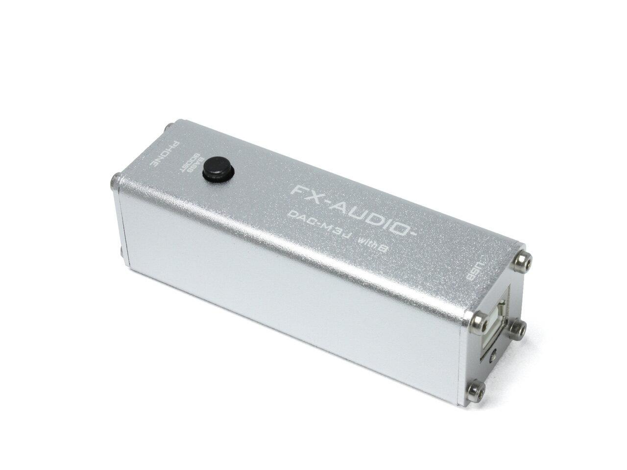 FX-AUDIO- DAC-M3J with B [シルバー] お手軽 USB バスパワー駆動ハイレゾ対応DAC &ヘッドフォンアンプ