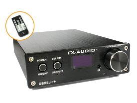 【送料無料】FX-AUDIO- D802J++ [ブラック] デジタル3系統24bit/192kHz対応+アナログ1系統入力 STA326搭載 フルデジタルアンプルアンプ