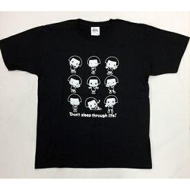 チコちゃん Tシャツ Lブラック いっぱい