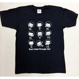 チコちゃん Tシャツ Lネイビー いっぱい