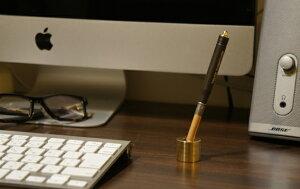 BRASSPENSTAND/ブラスペンスタンドPicusピクス真鍮削りだし無垢アンティーク錆ペン立て書斎【あす楽対応_東海】