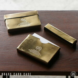 BRASS CARD CASE / ブラス カード ケース PUEBCO プエブコ ケース ホルダー 名刺入れ 25枚収納 真鍮 BRASS