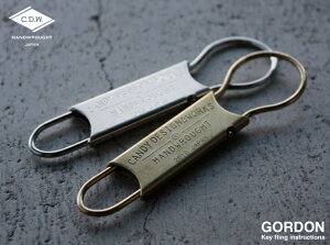 CDW GORDON Key Ring / ゴードン キーリング CANDY DESIGN & WORKS キャンディデザイン&ワークス カラビナ 鍵 キー カギ キーホルダー DETAIL