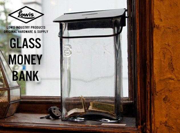 GLASS MONEY BANK / ガラス マネーバンク Lowis Industry ルイス インダストリー 貯金箱 バンク MOENYBANK ガラス製 DETAIL CANDY DESIGN & WORKS 【あす楽対応_東海】