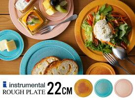 【22cm】Rough Plate / ラフ プレートinstrumental インストゥルメンタルリム皿 信楽 食器 和食器