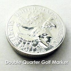 ダブルクォーターゴルフマーカー