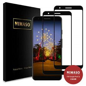 【2枚組 36ヶ月保証】Nimaso Google Pixel 3a ガラスフィルム 全面保護ガラスフィルム 2枚セット 液晶強化ガラス硬度9H/貼り付け簡単/気泡ゼロ/3D Touch対応/高透過率