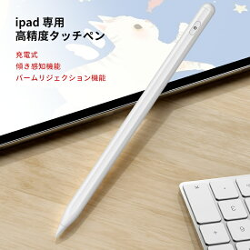 【5/16までP10倍 1年保証】iPad 専用タッチペンiPad Pro11/12.9(2021) iPad Pro iPad Air4 ipad Mini 10.2 11 12.9 10.5 7.9 9.7インチ 第8世代 第7世代 傾き感知機能/パームリジェクション機能 スタイラスペン 極細 ペンシル 超高感度 充電式 送料無料