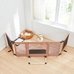 ペットゲートおくだけとおせんぼスマートワイド置くだけワイドリビングペットゲージ犬用ゲート日本育児