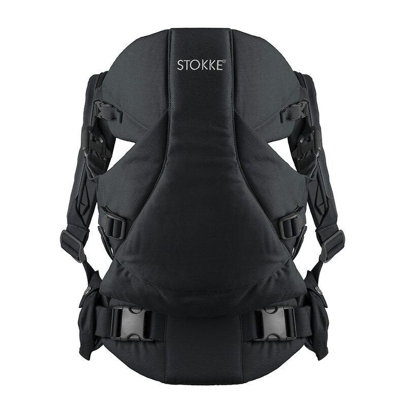 Stokke ストッケ マイキャリア+ビブ2枚セット【ブラック】旧モデル[ベビーキャリア 抱っこひも おんぶひも]
