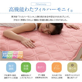 【送料無料】mofuacool接触冷感素材・アウトラストクール敷パッド(抗菌防臭・防ダニわた使用)ダブル