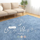 【送料無料】mofua cool マイナス2℃ 日本製さらっとひんやり涼感ラグ(キシリトール加工)185×240cm(約3帖)