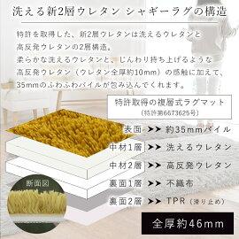 ラグ【送料無料】洗えるシャギー2層ウレタンパズルラグマットPZ-503(45×90cm)【2営業日後の発送】【代引不可】