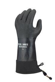 20年新入荷 TEMRES 02 Winter 防寒テムレス 黒 ショーワグローブ ブラックテムレス 黒テムレス M L LL 3L バックカントリー 登山 雪かき カフ ドローコード 作業 手袋