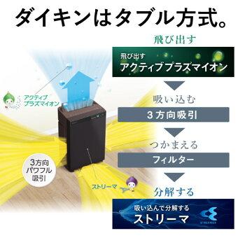ダイキン加湿ストリーマ空気清浄機ビターブラウンMCK70W-T花粉対策製品認証加湿空気清浄機31畳加湿器タバコ花粉ペットホコリニオイ脱臭PM2.5