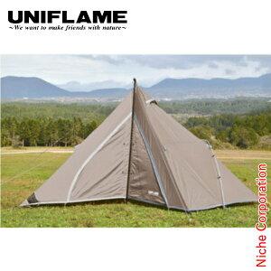 ユニフレーム テント REVOルーム4プラスII TAN キャンプ タープ アウトドア お1人様2点限り
