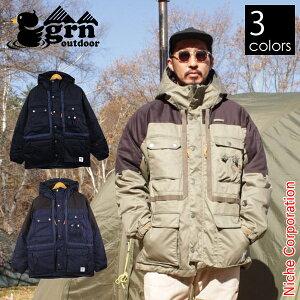 grn outdoor HIASOBI CAMPER ダウンジャケット GO0283Q メンズ 秋冬 父の日 プレゼント
