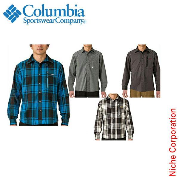 コロンビア リンカーンハイランドシャツ《男性用》[PM7142]Lincoln Highlands L/S Shirt[columbia コロンビア Men's メンズ トレッキング 山登り シャツ ネルシャツ ][dis-out][あす楽]