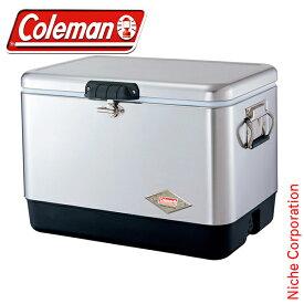 コールマン coleman 54QTスチールベルト クーラー(シルバー) 3000001343 スチールベルトクーラー 54qt クーラーボックス スチールベルト 大容量 キャンプ用品
