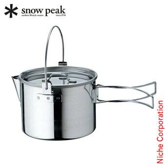 スノーピーククッカーケトルNO.1CS-068アウトドアお湯キャンプ調理器具来客用新生活
