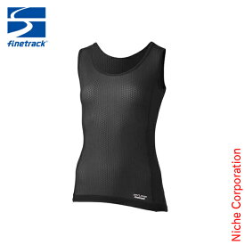 ファイントラック finetrack スキンメッシュノースリーブ WOMEN'S (ブラック) [ FUW0416(BK) ] インナー 登山 スポーツ ウエア ウェア