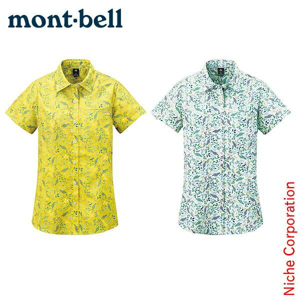 モンベル mont-bell WIC.ライト プリントハーフスリーブシャツ Women's #1114106[あす楽][nocu]