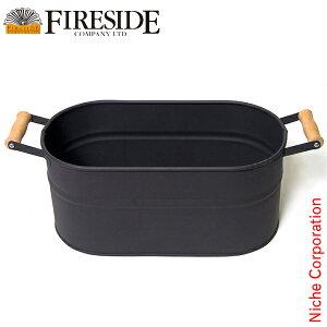 オーバルウッドストッカー(小) 薪ストーブ アクセサリー 暖炉 [ ファイヤーサイド fireside ]