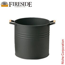ラウンドウッドストッカー(小) 薪ストーブ アクセサリー 暖炉 [ ファイヤーサイド fireside ]