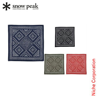 SNOW PEAK noasobi印花大手帕[UG-219][SNOW PEAK shop in shopsnowpeak印花大手帕秋天冬天][P5][]