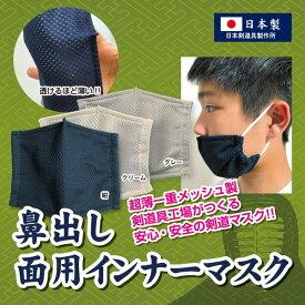 剣道 【鼻出し】面用インナーマスク テトニット素材 日本剣道具製作所製
