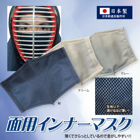 剣道 面マスクの決定版 面用インナーマスク テトニット素材 日本剣道具製作所製