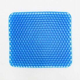スーパーゲルクッション ジェルクッション ハニカム構造 カバー付き 2020 無重力 座布団 高弾性ゲル ムレにくい 通気性 水洗い 快適 角型 腰痛対策