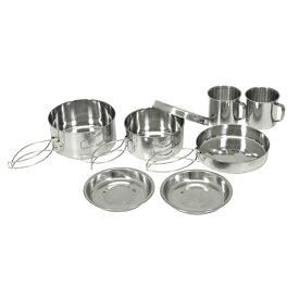 キャンプ クッカーセット 8点 食器セット 調理器具 コッヘル アウトドア BBQ バーベキュー おしゃれ クッキング フライパン 皿 鍋