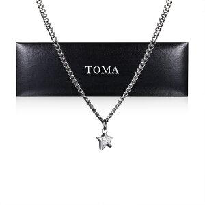 TOMA チタンネックレス 45cm星チャーム保証書付き