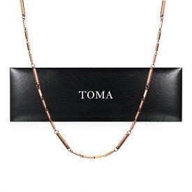 TOMA6F 女性 磁気ネックレス ピンクゴールド ゲルマニウム 保証書付き
