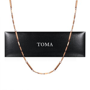 TOMA 6F 女性 磁気ネックレス ピンクゴールド ゲルマニウム 保証書付き