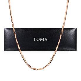 TOMA 6M 男性 磁気ネックレス ピンクゴールド ゲルマニウム 保証書付き