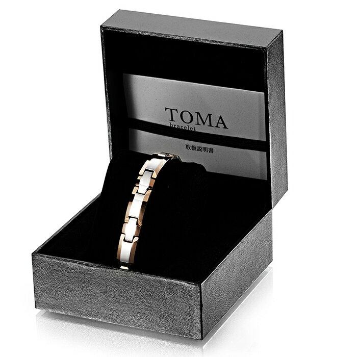 TOMA 1M・1F 十字 磁気ブレスレット 二色 男性or女性 ゲルマニウム 保証書付き