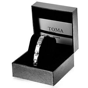 TOMA 2M・2F 磁気ブレスレット シルバー 男性or女性 ゲルマニウム 保証書付き