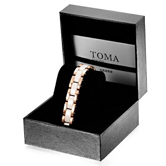 TOMA 11 m / 11 F male or female white ceramic magnetic bracelet pink