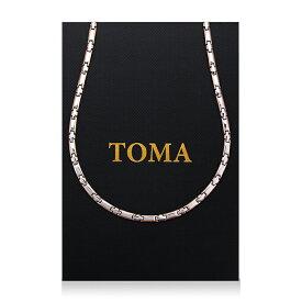 TOMA7MF 男・女 磁気ネックレス 十字二色 ゲルマニウム 保証書付き