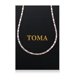 TOMA 7MF 男・女 磁気ネックレス 十字二色 ゲルマニウム 保証書付き