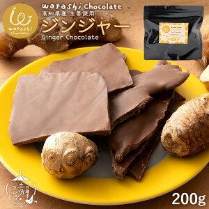 訳あり チョコレート 割れチョコ 送料無料 watashiチョコレート ジンジャー 200g [ わたしのしあわせ、おすそわけ わたしチョコ 渡しチョコ 割れチョコ 割れチョコレート 生姜 しょうが スイー