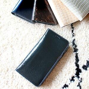 iphone 11 pro ケース アイフォンケース エナメル 手帳型 牛革 日本製 カワイイ レディース iphone11 プロ カード入れ有り