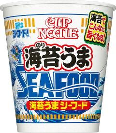 日清食品 【BIG】 カップヌードル 海苔うまシーフード ビッグ 96g カップ 12個 〔のりうま SEAFOOD〕