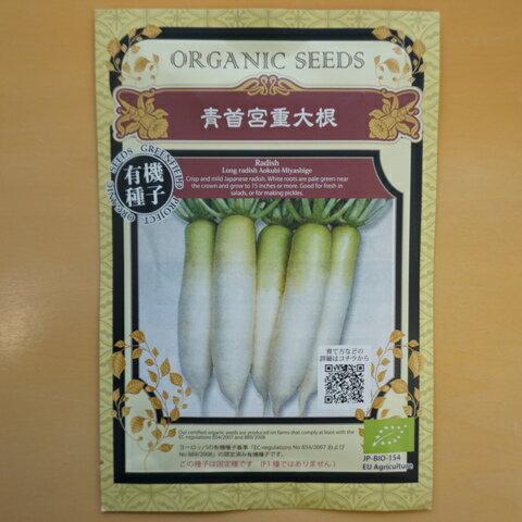 有機種子 固定種 青首宮重大長 種 大根 在来種 種子 ダイコン 青首大根 オーガニック グリーンフィールドプロジェクト【ゆうメール選択可】