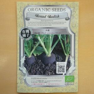 有機種子 固定種 大根 種 黒丸大根 種子 ブラック スパニッシュ ラウンド ダイコン ミニ丸大根 野菜 オーガニック グリーンフィールドプロジェクト 追跡可能メール便選択可【大袋・お取り