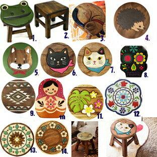 A177■送料無料【ほっこり小さい木の椅子ウッドスツール 1〜14】木のイス子供椅子ラウンドスツール.